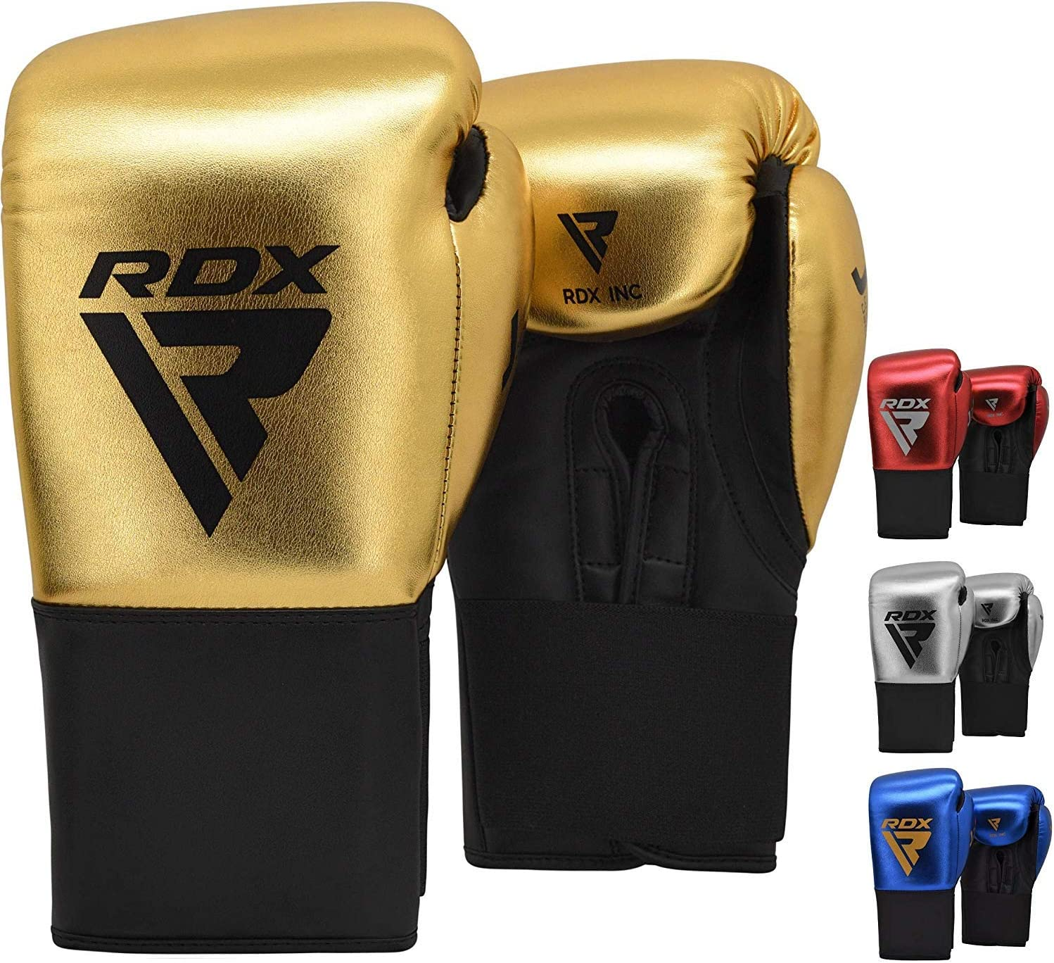 RDX Leather MMA Grappling Gloves Boxing Fighting Punching Training F1W