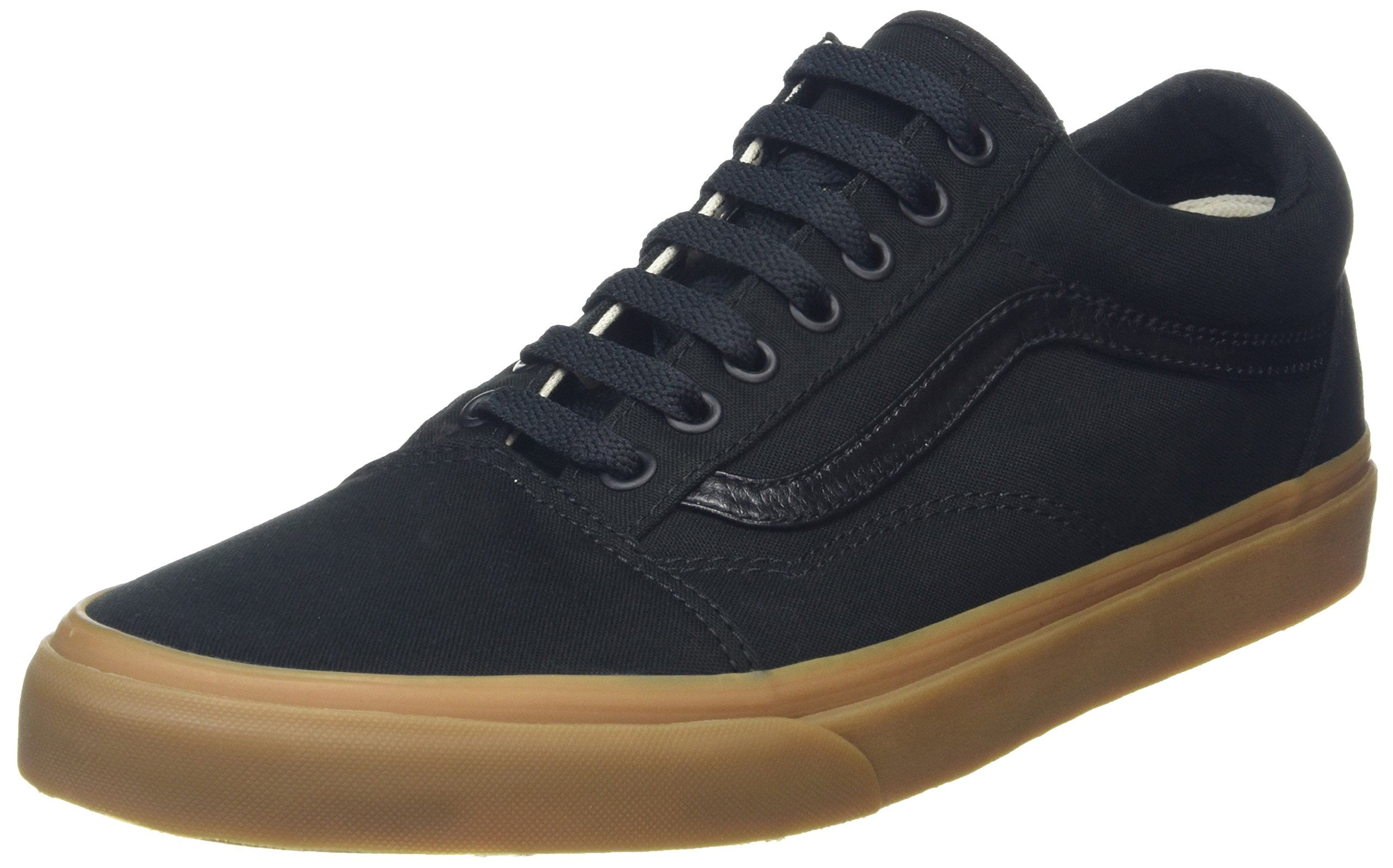 7415aaea158 Galleon - Vans Unisex Old Skool (Canvas Gum) Black LghtGm Skate Shoe 10 Men  US 11.5 Women US