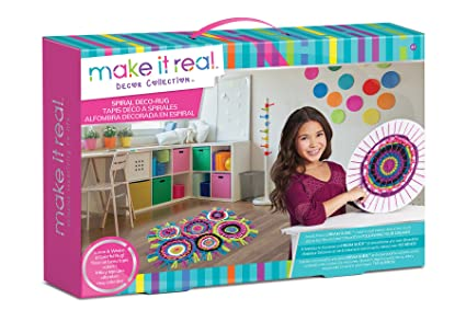 Amazoncom Make It Real Spiral Deco Rug Weaving Loom Craft Kit For