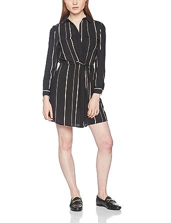 1b3b0aeb45 New Look Petite Women's Stripe Tie Sleeve Shirt Dress: Amazon.co.uk:  Clothing