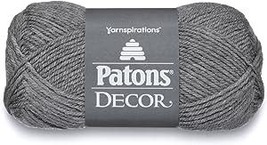 Patons Decor Yarn, 3.5oz, Gauge 4 Medium Worsted Grey - For Crochet, Knitting & Crafting