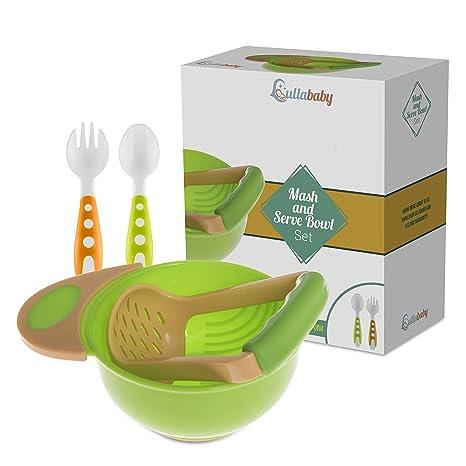 Set con bol para triturar y servir - Alimentación del bebé con alimentos frescos, con