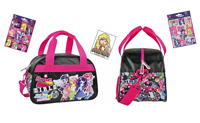 Equestria Girls 34 x 22 x 21 cm + 16 Equestria Girls Sticker Reise-Tasche//Sporttasche//Kindergarten-Tasche My little Pony