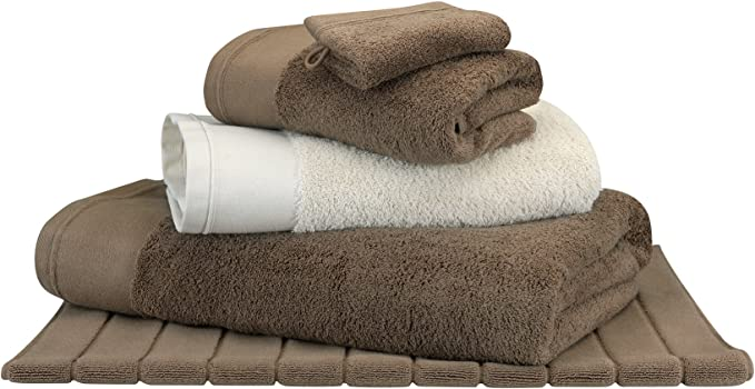 Toalla de baño Moka – algodón peinado 600 G/m² – uni blanco cereza Moka, algodón, moca, 100 x 150 cm: Amazon.es: Hogar