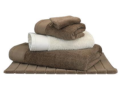 Toalla de baño Moka – algodón peinado 600 G/m² – uni blanco cereza Moka