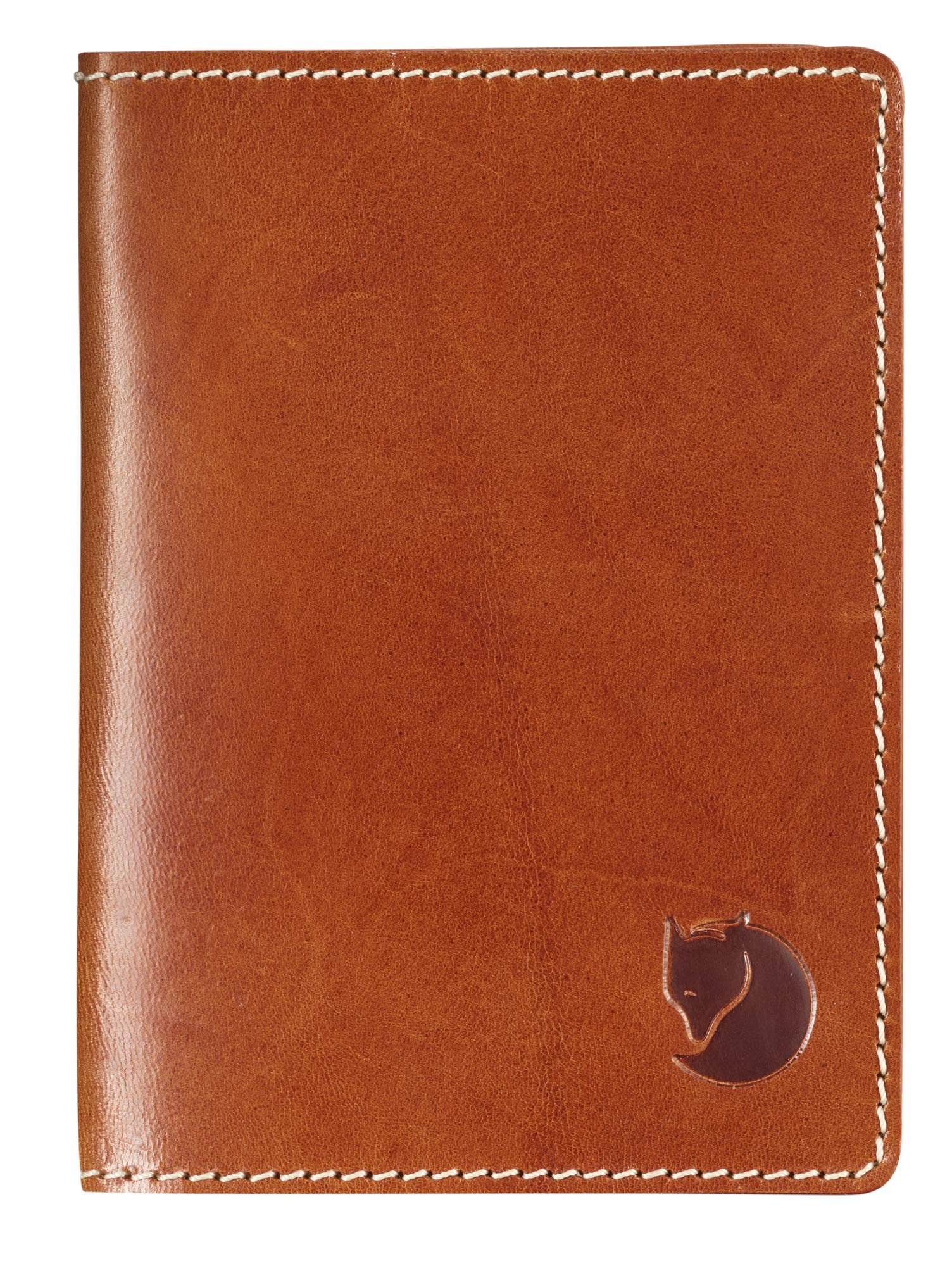 Fjallraven - Leather Passport Cover, Leather Cognac by Fjallraven