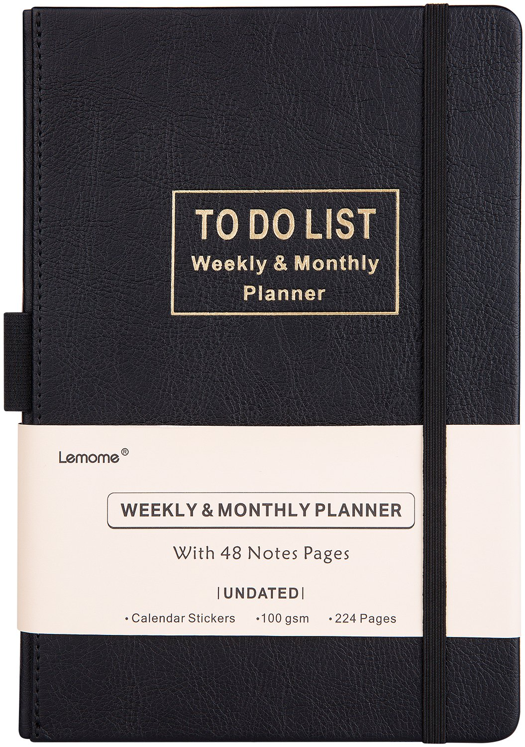 Planner with 2018-2019 Stickers - Academic Weekly, Monthly and Yearly Planner with to-Do List. Thick Paper to Achieve Your Goals, 5.75'' x 8.25'', Back Pocket with 48 Notes Pages - Undated