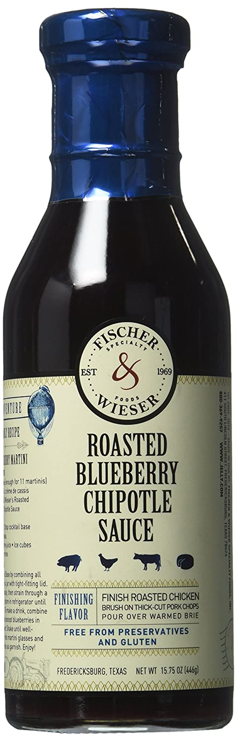 Fischer & Wieser Specialty Foods Chipotle Sauce, Blueberry, 15.75 Ounce