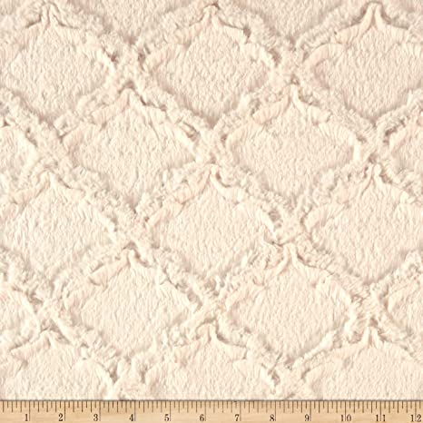 Shannon Minky Luxe Cuddle Lattice Silver Fabric By The Yard