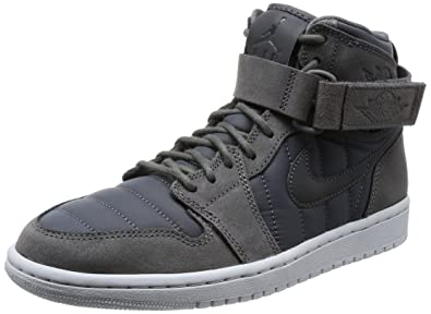NIKE Air Jordan 1 High Strap, Chaussures de Basketball Homme, Noir (Dark Greydark