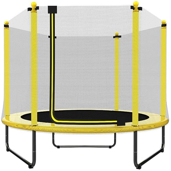 EUR POINT 150 cm Kindertrampolin mit Sicherheitsgehäuse, verzinkter Stahl, 36pcs hochfeste Federn - ideales Indoor- und Outdo