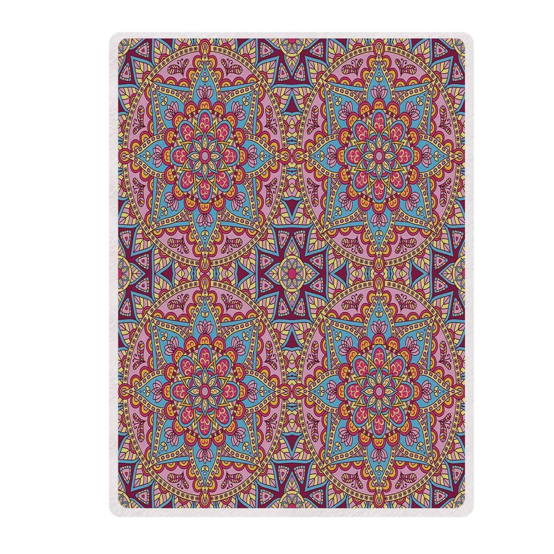 Amazon.com: YOLIYANA Purple Mandala Various Print Blanket ...
