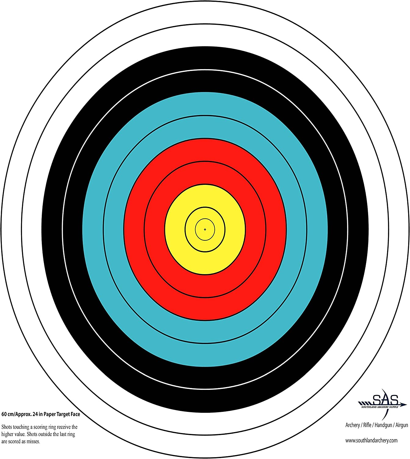 Southland Archery Supply SAS 10-Ring Paper Target Face