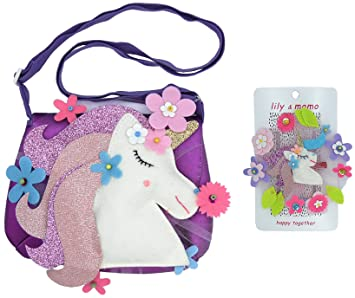 Amazon.com: Lily & Momo – bosque unicornio bolsa y clip de ...