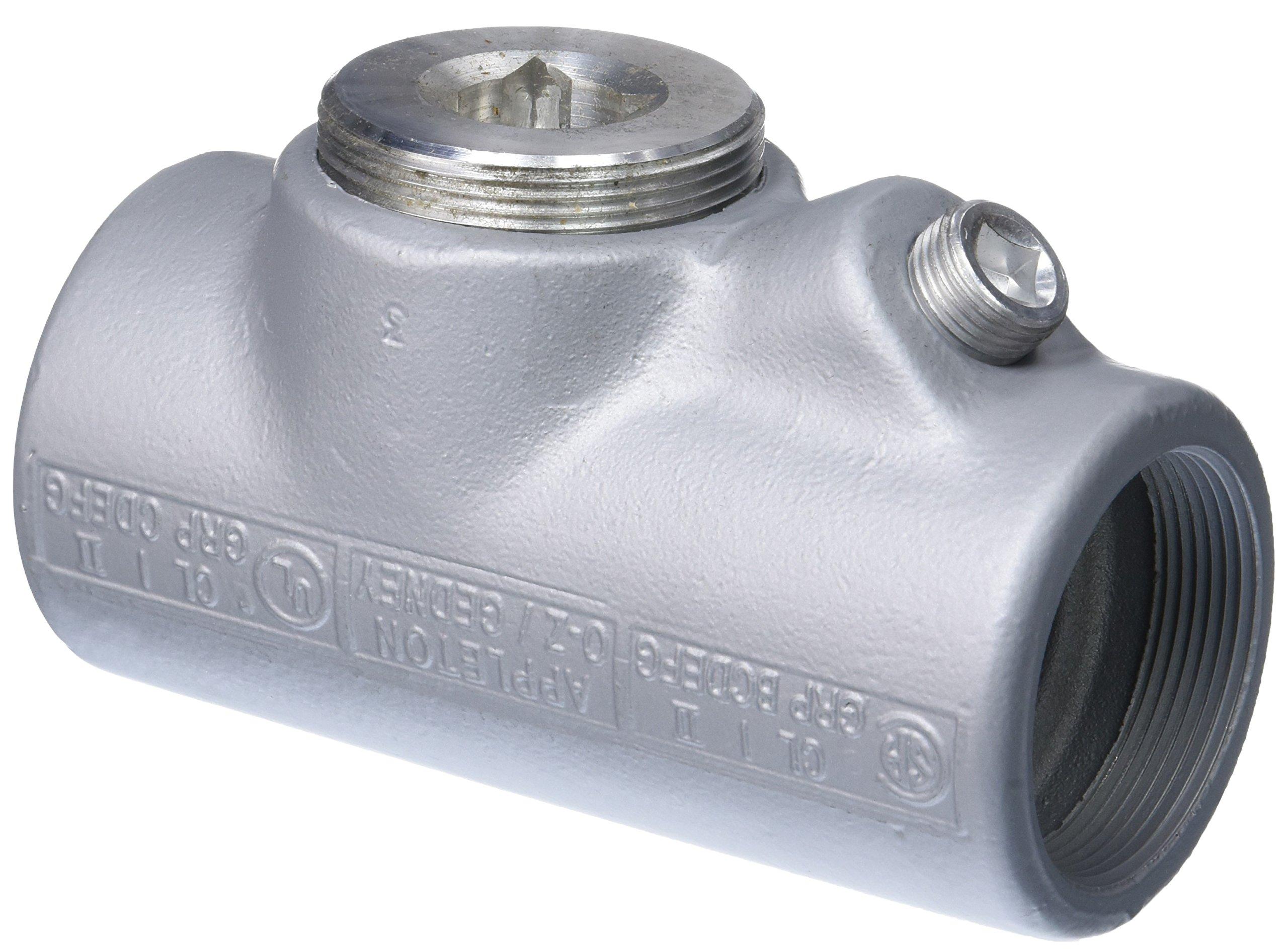 Appleton EYF-200AL EY Sealing Fitting, 25% Fill Vertical/Horizontal Conduit, Aluminum, Female, 2''