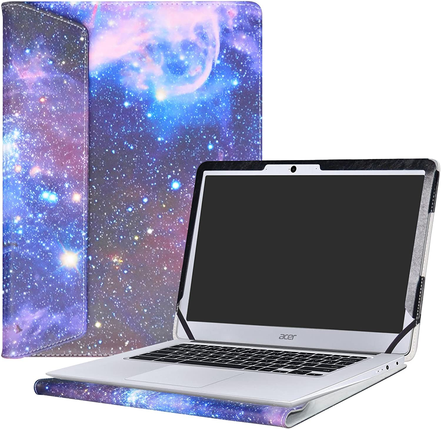 """Alapmk Protective Case Cover for 14"""" Acer Chromebook 14 CB3-431 Series Laptop(Not fit ACER CHROMEBOOK 14 for Work CP5-471 Series),Galaxy"""