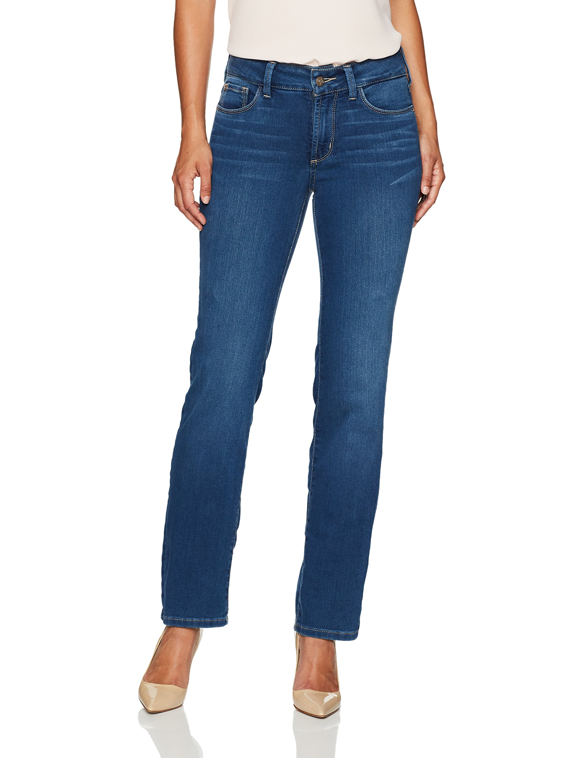 NYDJ Women's Petite Size Marilyn Straight Leg Jeans In Future Fit Denim, Islander, 8P
