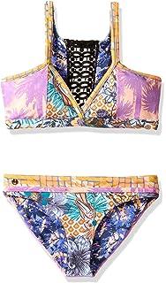 6cac9c08c98 Maaji Girls' Little Long Line Fixed Triangle with Tie Back Bikini ...