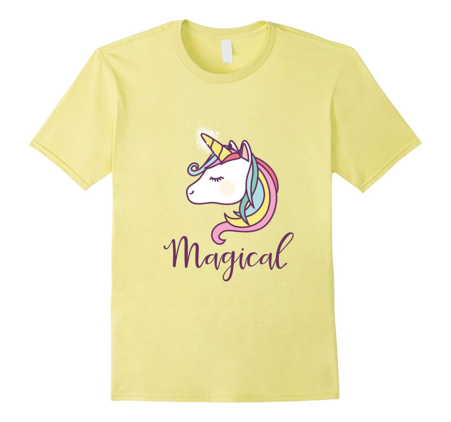 061a527b758d77 Cute Unicorn Magical Rainbow Tee Shirt for Girl Women Kid-ANZ ...
