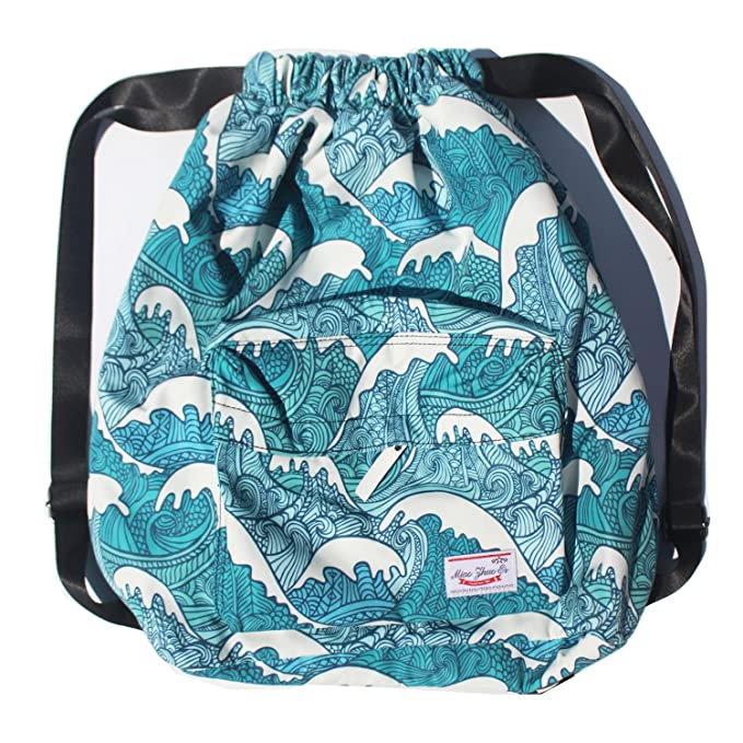 279115d92c42 Dry Wet Separated Swimming Bag Floral Waterproof Drawstring Backpack Pool  Beach Travel Gym Bag