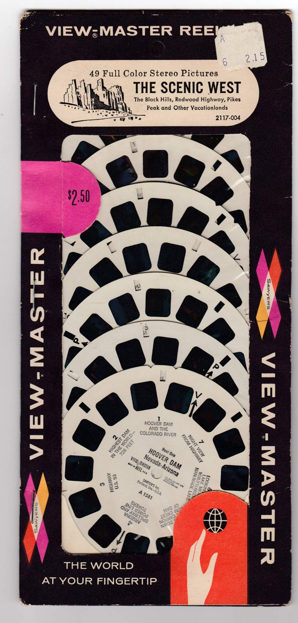 View Master SAWYER'S Reel PAK The Scenic WEST Unopened 7 REELS Including The Black Hills, Redwood Highway, Pikes Peak, and Vacationlands by View Master