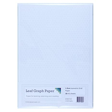 A3 Graph Paper Pack 1Cm 10Mm Isometric - 30 Loose-Leaf Sheets