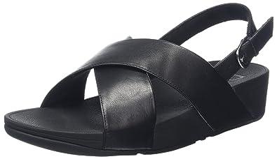 Women Lulu Cross Back-Strap Shimmer Open Toe Sandals FitFlop 0HvSbvO