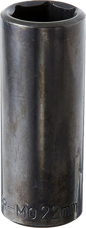 GearWrench 84580N 1//2 Drive 6 Point Deep Impact Metric Socket 22mm Black