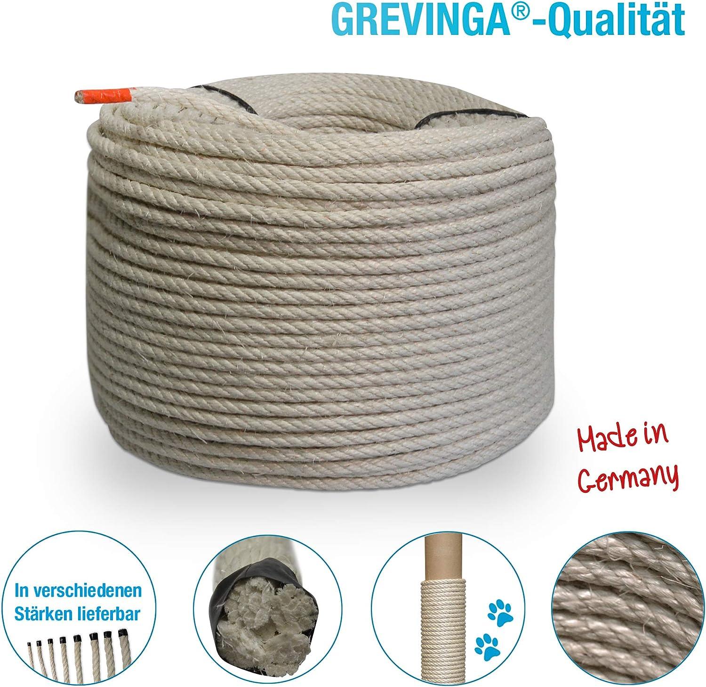 Cuerda de sisal de Grevinga/® diferenteslongitudes 10 m 6 mm de di/ámetro