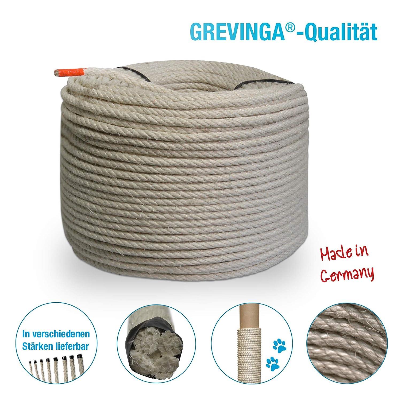 Grevinga/® Naturfaser Sisal-Seil /Ø 6 mm versch. L/ängen