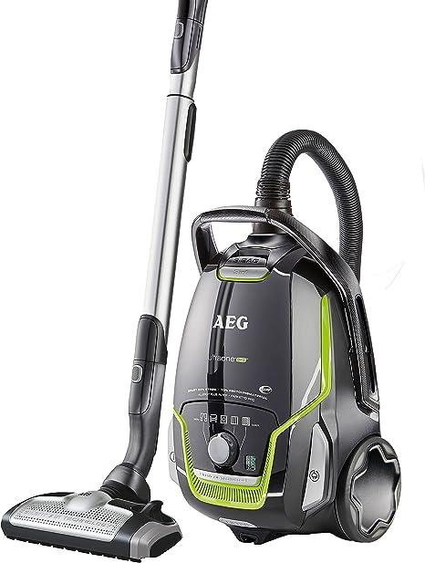 AEG UltraOne Öko UOGREEN - Aspiradora de bolsa (eficiencia energética clase A (850 W, capacidad para 5 L, 3 boquillas, filtro lavable Allergy Plus), color negro y verde: Amazon.es: Hogar