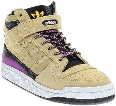 adidas Men s Forum MID Refined Sand Black White F37834 (Size  ... b5537147d