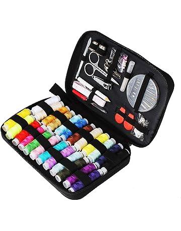 Tuxwang Kit de costura con 90 piezas Accesorios de costura premium con funda de transporte,