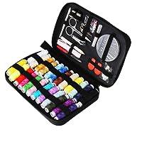 Kit de couture TUXWANG avec accessoires de couture Premium 90pcs avec étui de transport, 24 bobines de fil - 1 paquet d'aiguilles de couture (compteur 30) Kit de couture pratique p