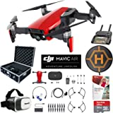 DJI Mavic Air Drone Combo 4K Wi-Fi Quadcopter with Remote Controller Pro Photo Edit Bundle With Hard Case VR Goggles Landing Pad 32GB Memory Card 16GB Drive And Corel Pro X9 (Flame Red)