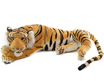 Brubaker Huge Tiger Plush Toy Brown 24 Inches Amazon Co Uk