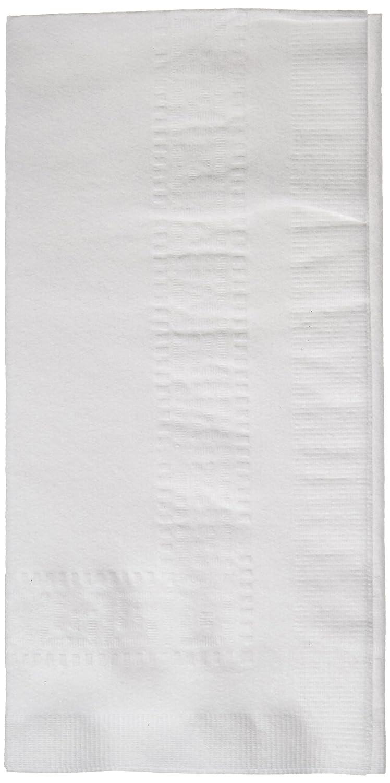 Hoffmaster 120051 Linen-Like Greek Key Embossed Dinner Napkin, 1/8 Fold, 17