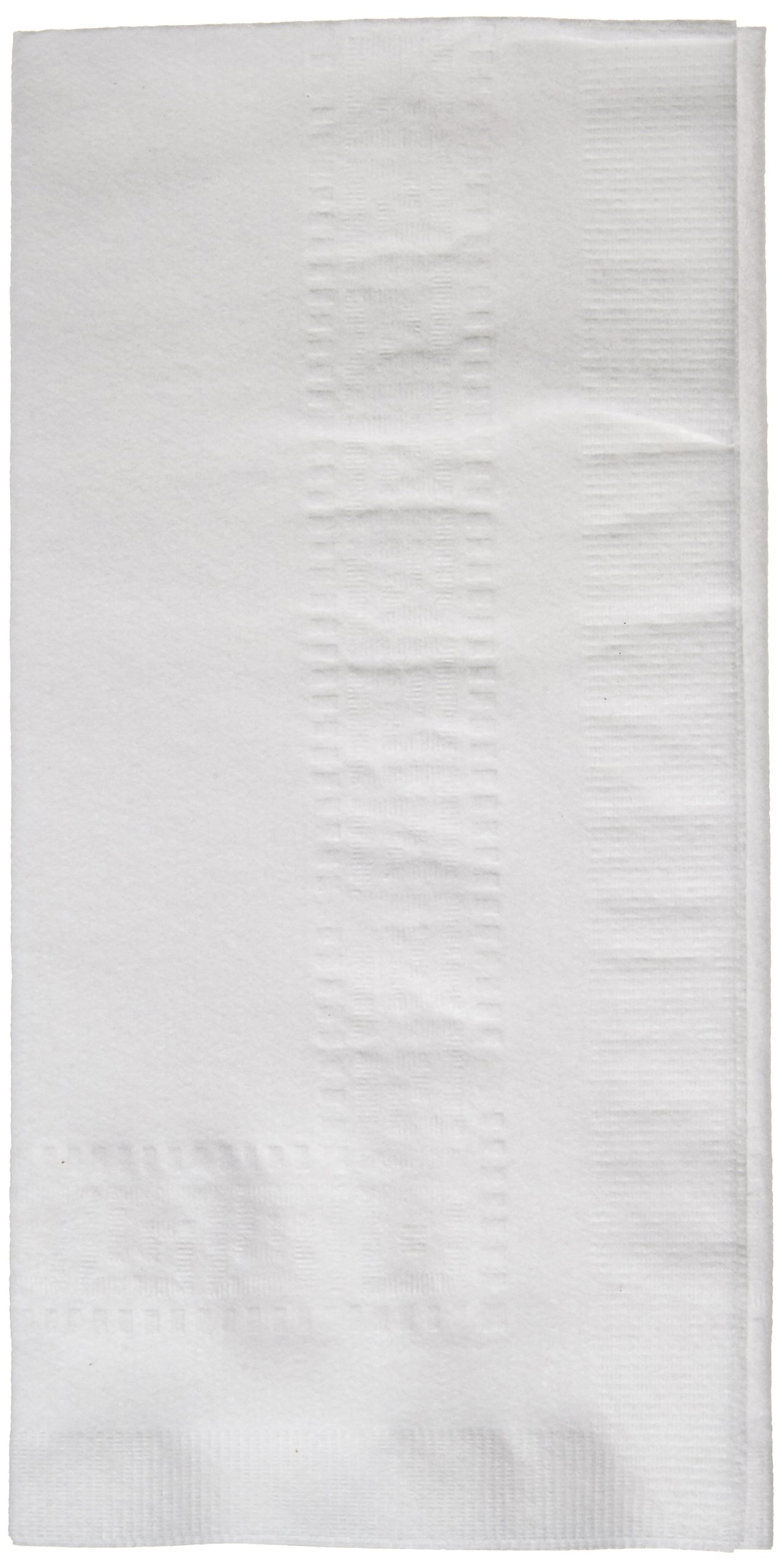 Hoffmaster 120051 Linen-Like Greek Key Embossed Dinner Napkin, 1/8 Fold, 17'' Length x 17'' Width, White (Case of 300)