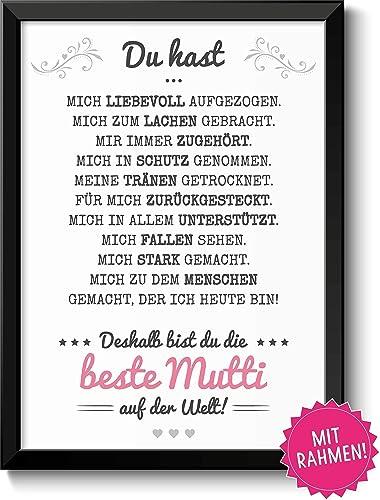 Beste Mama Geschenke Bild Mit Rahmen Geschenkidee Zum Muttertag