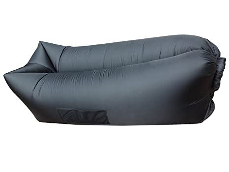 Exceptionnel TB Portable Lounger Air Sleeping Bag Beach Inflatable Sofa Bed Queen Size 2  Air Compartment For