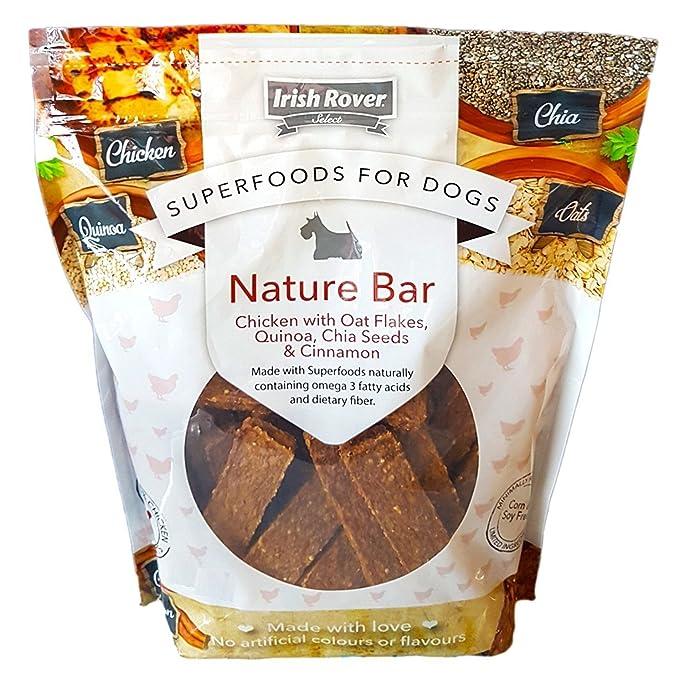 Superalimentos para perros Irish Rover con copos de avena, quinoa, semillas de chia y canela, 1 kg: Amazon.es: Productos para mascotas