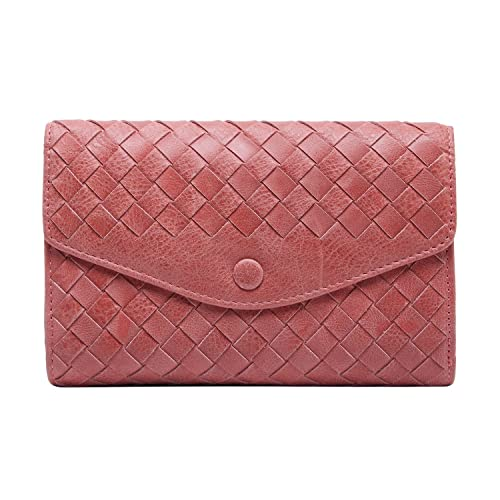 BOYATU Carteras de cuero para mujeres Bolso tejido Clutch de clip de dinero de moda: Amazon.es: Zapatos y complementos