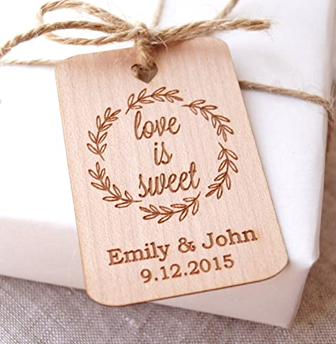 Love Is Sweet Wedding Favor Tags Rustic Gift Thank