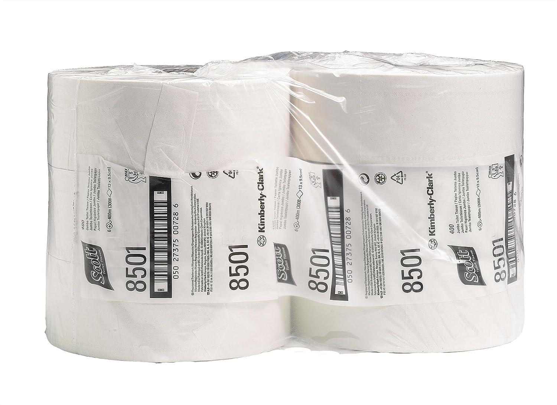 SCOTT* PERFORMANCE Papel Higiénico Jumbo 8501 - 1.053 servicios de color blanco y 2 capas por rollo (caja con 6 rollos): Amazon.es: Industria, ...