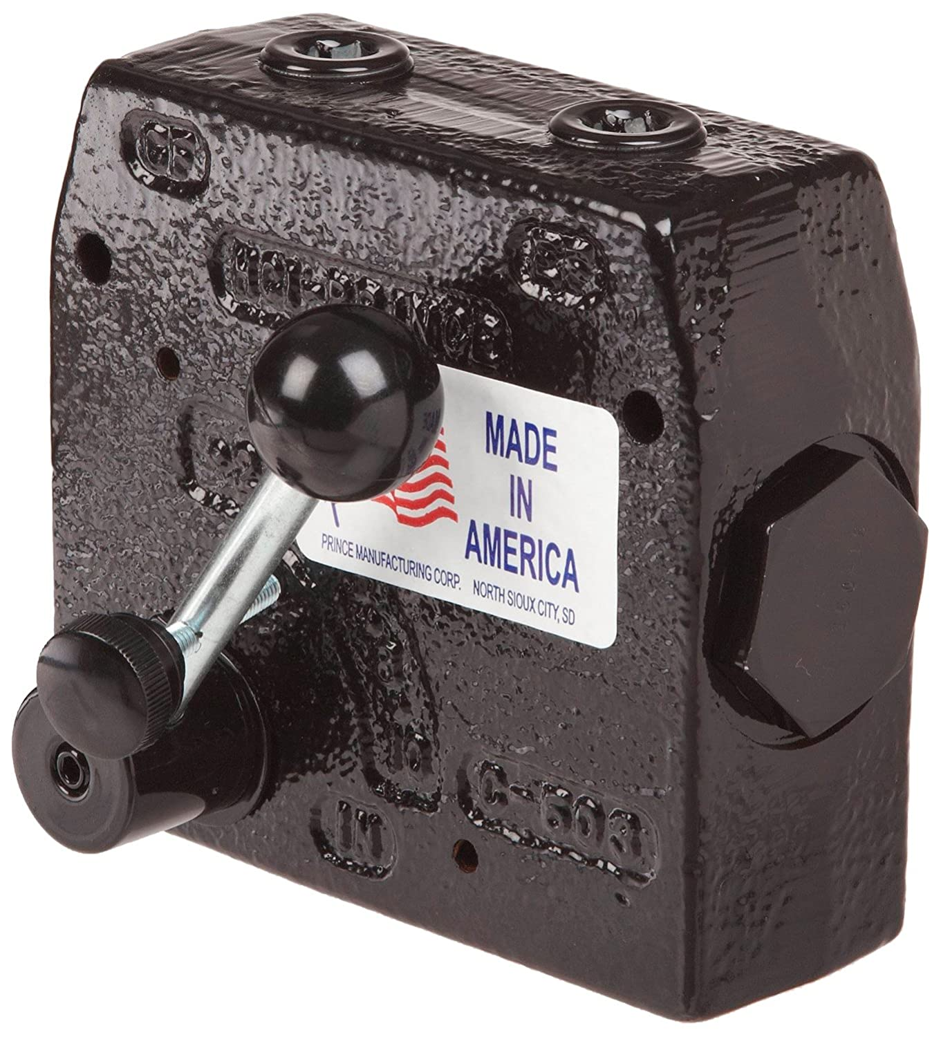 Prince RD-175-30 Flow Control Valve, Adjustable Pressure Relief, Cast Iron, 3000 psi, 0-30 gpm, 3/4' NPTF 3/4 NPTF Prince Manufacturing