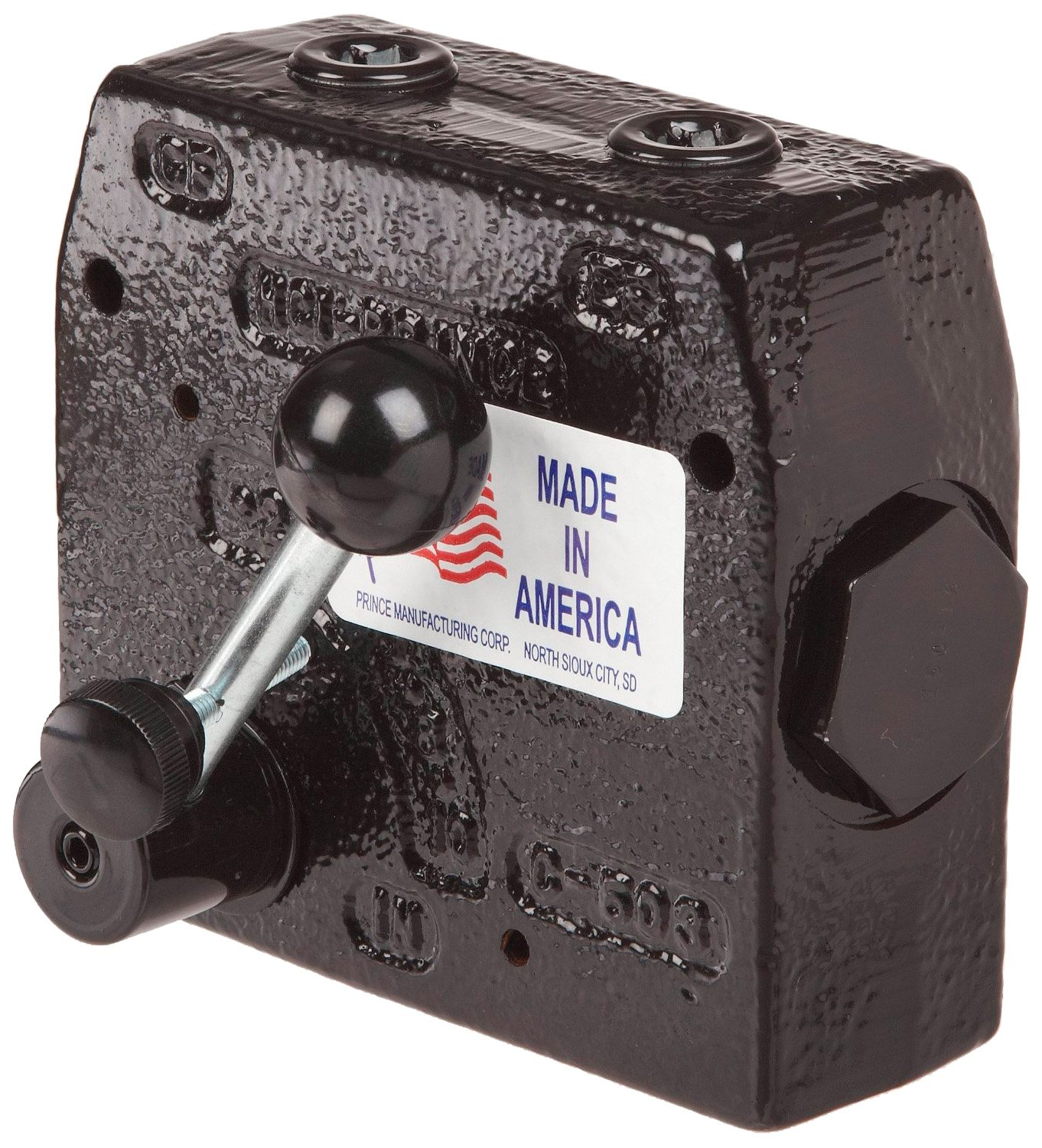 Prince RD-175-30 Flow Control Valve, Adjustable Pressure Relief, Cast Iron, 3000 psi, 0-30 gpm, 3/4'' NPTF