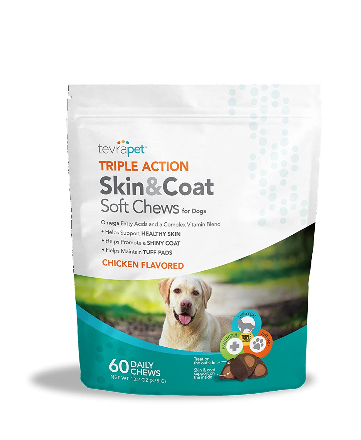 TevraPet Triple Action Functional Soft Chews, Skin & Coat 60 ct.