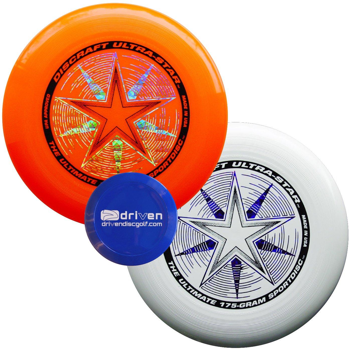Discraft Ultra Star 2 Disc Ultimate Set + Mini Flyer (White - Orange) by Discraft