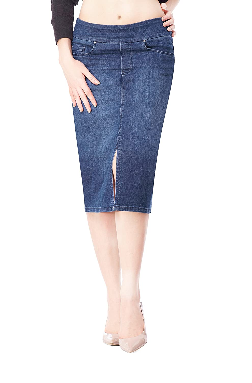 Bluberry women's Nicole medium wash denim skirt