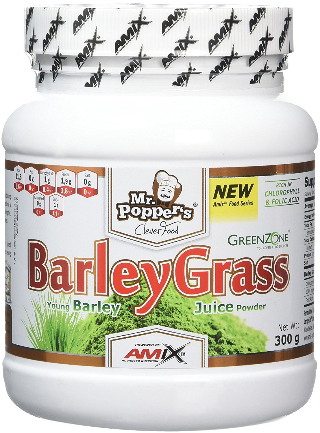 Amix Mr. PopperŽS Young Barley Grass Alimentación Natural - 300 gr_8594159534742: Amazon.es: Salud y cuidado personal